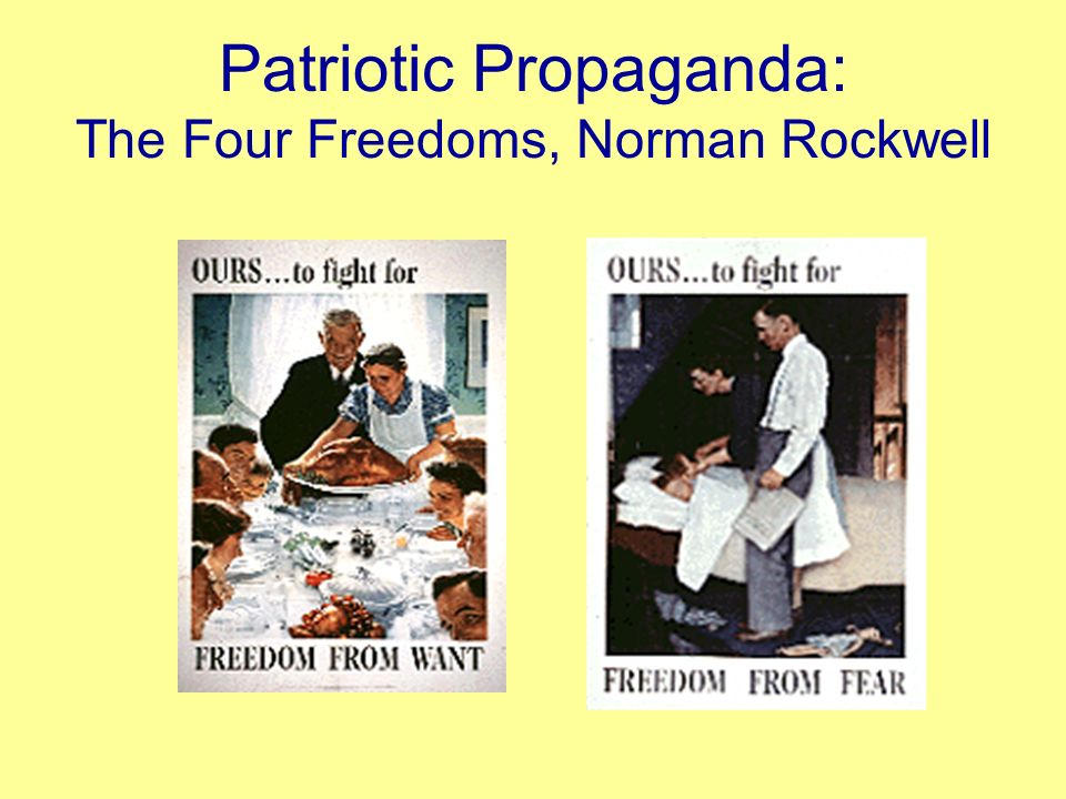 Patriotic Propaganda: The Four Freedoms, Norman Rockwell