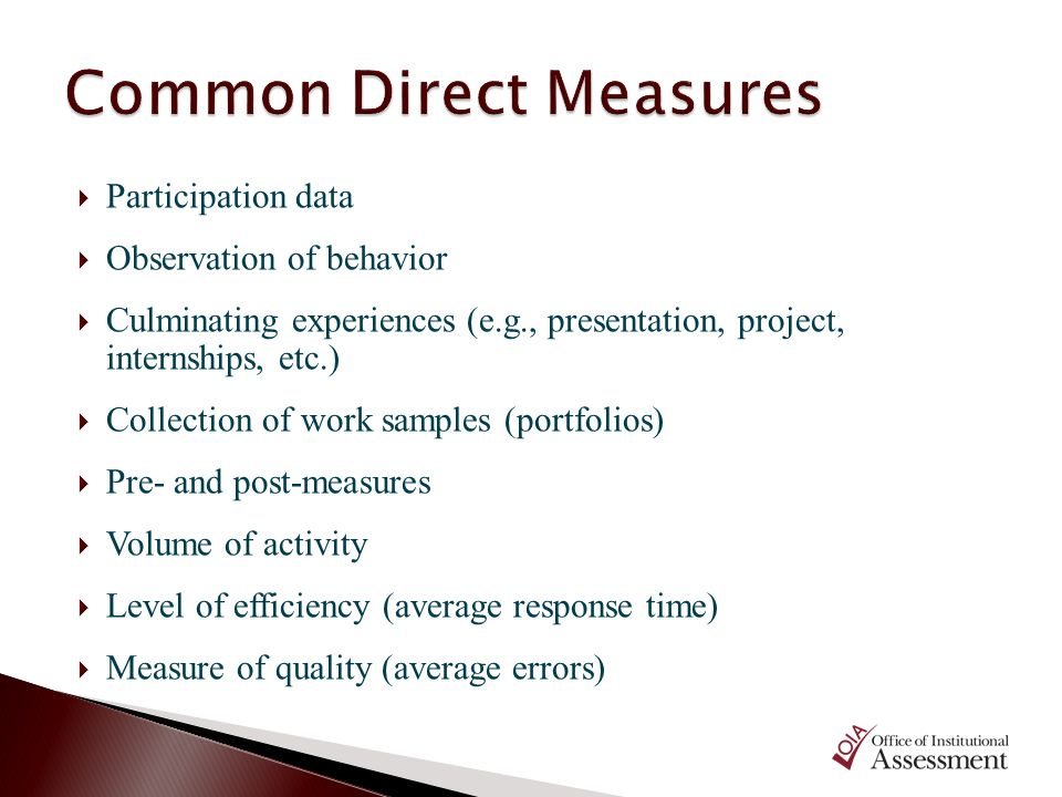 Common Direct Measures