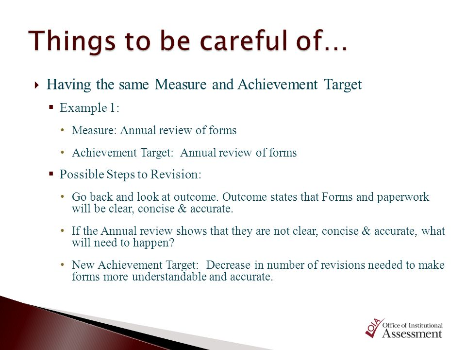 Things to be careful of…