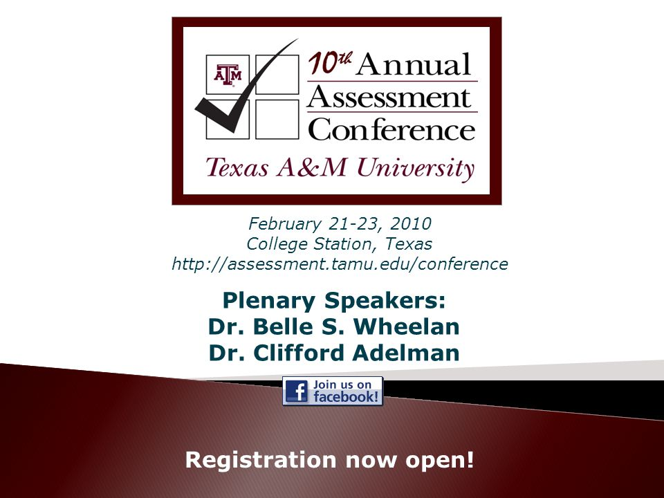 Plenary Speakers: Dr. Belle S. Wheelan Dr. Clifford Adelman