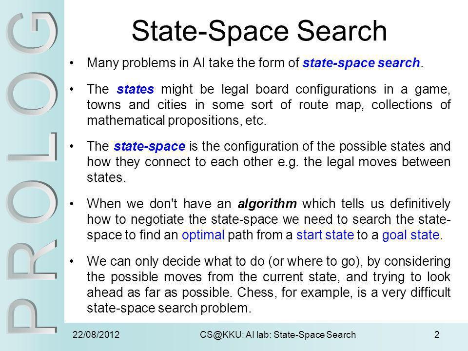 CS@KKU: AI lab: State-Space Search