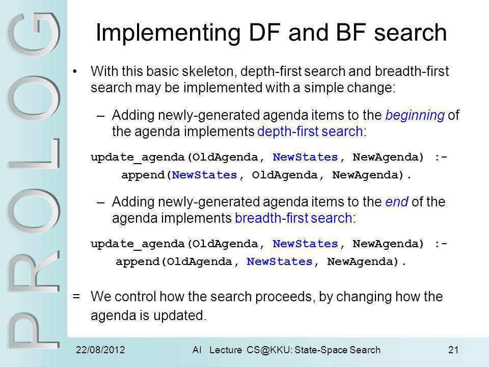 Implementing DF and BF search