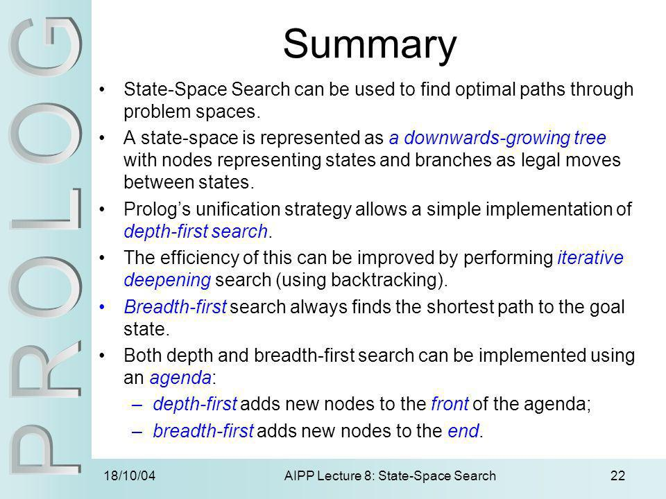 AIPP Lecture 8: State-Space Search