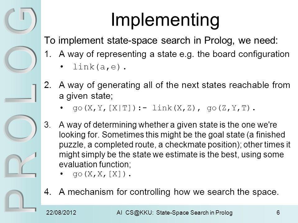 AI CS@KKU: State-Space Search in Prolog