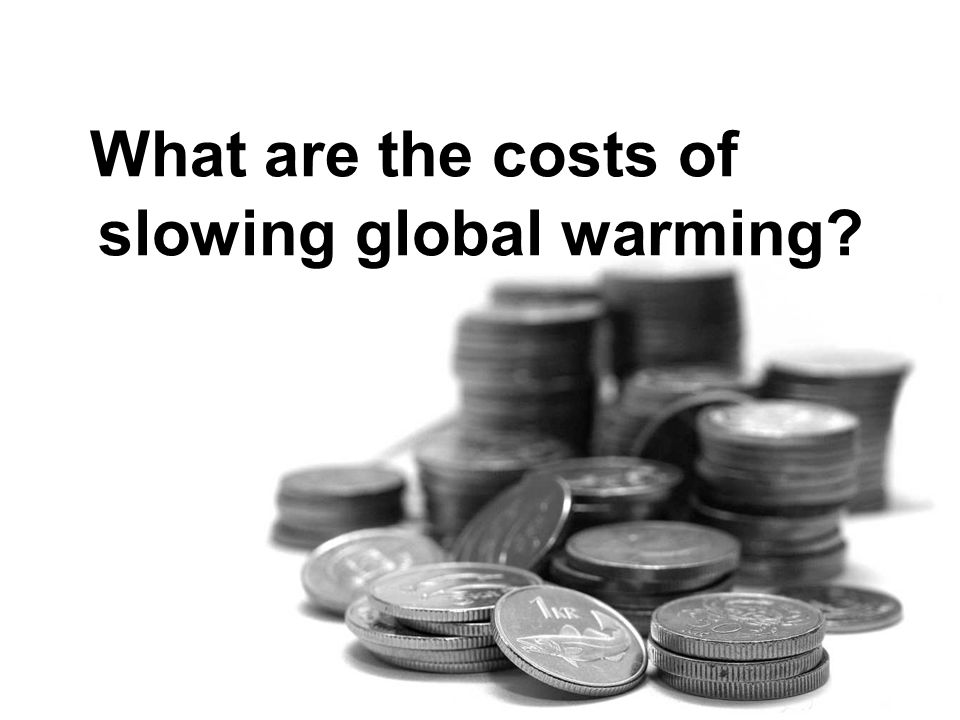 What are the costs of slowing global warming