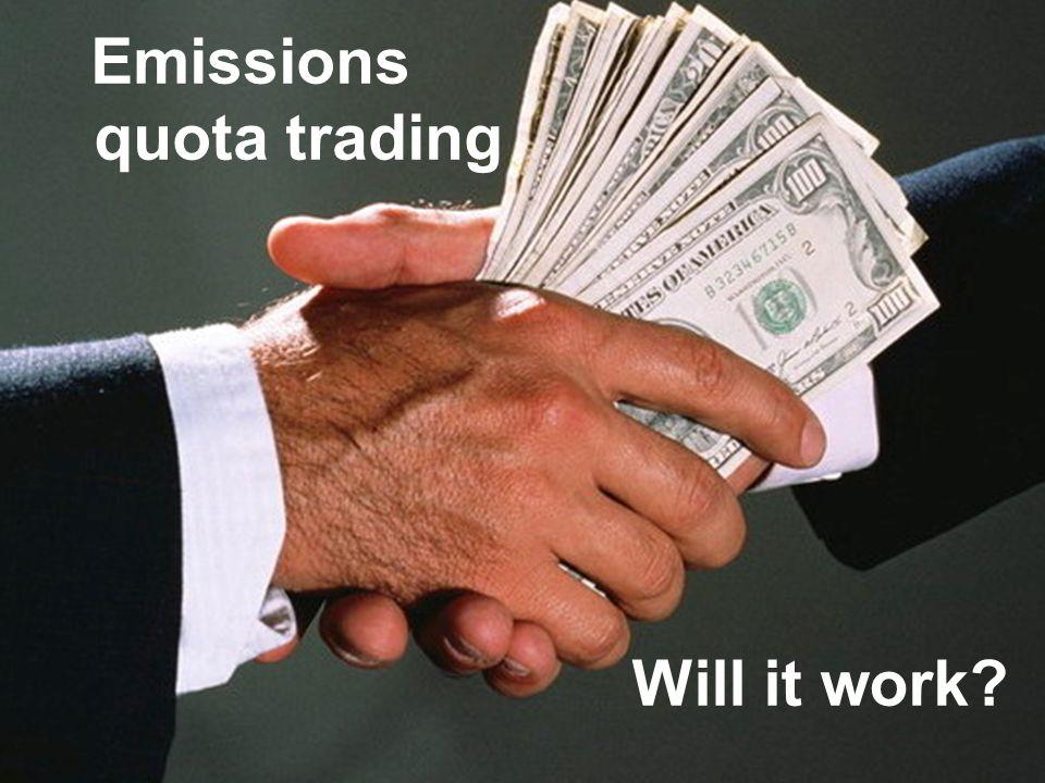 Emissions quota trading