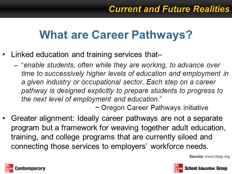 What are Career Pathways