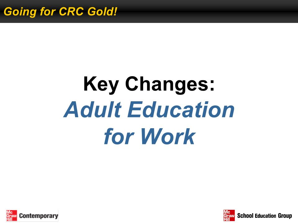 Key Changes: Adult Education for Work