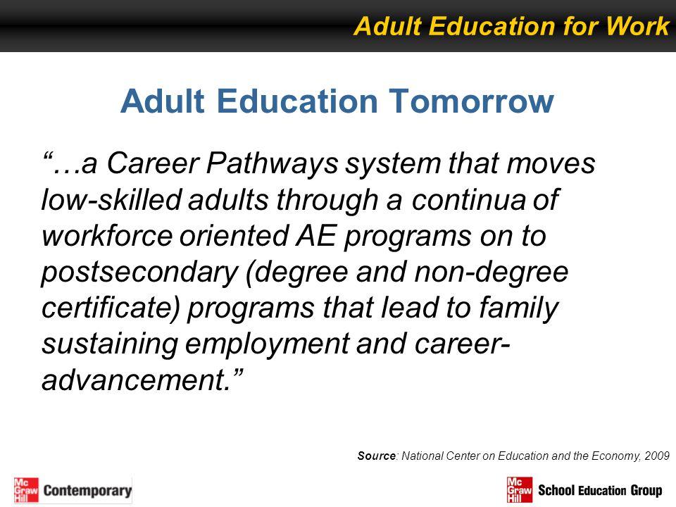 Adult Education Tomorrow