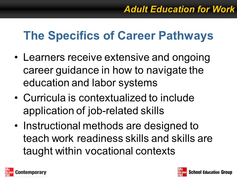 The Specifics of Career Pathways