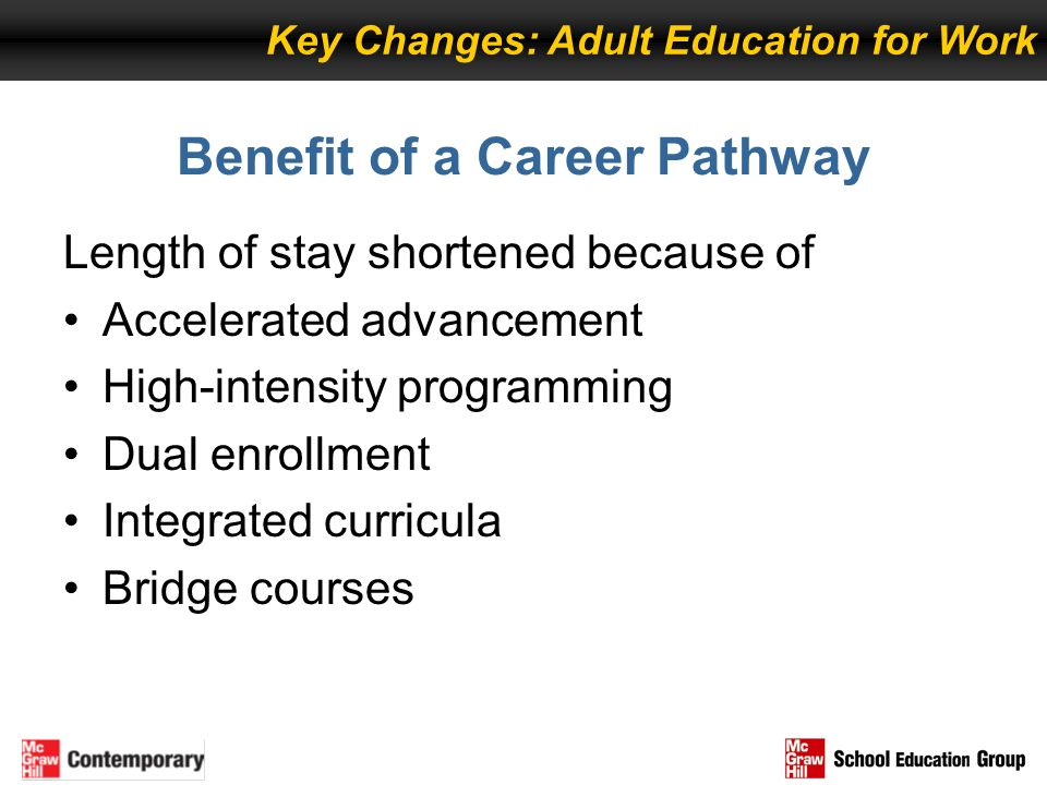 Benefit of a Career Pathway