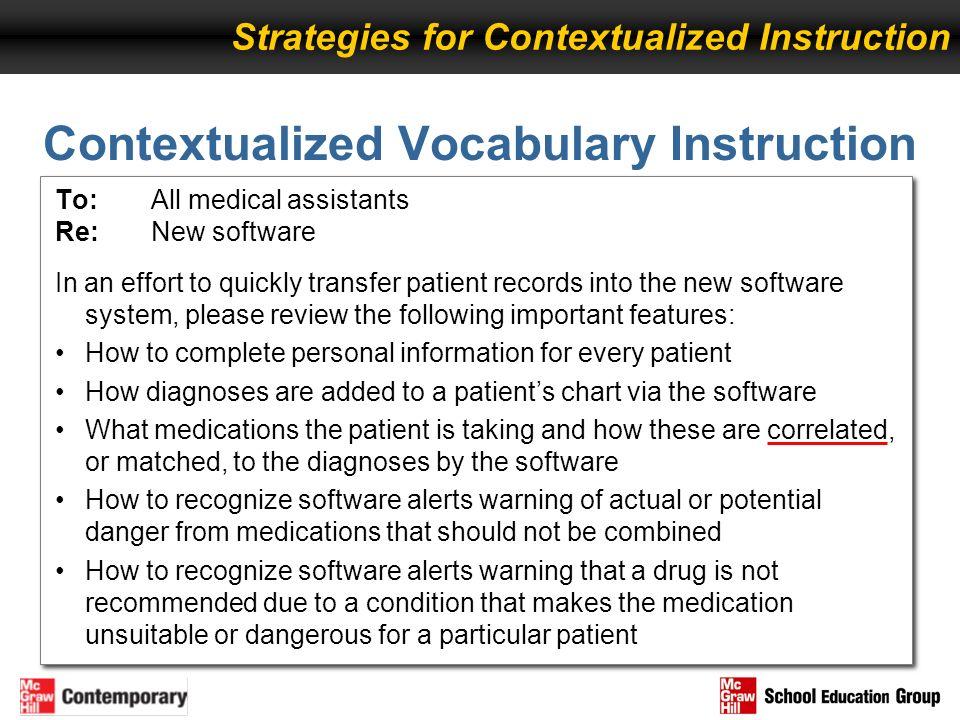 Contextualized Vocabulary Instruction