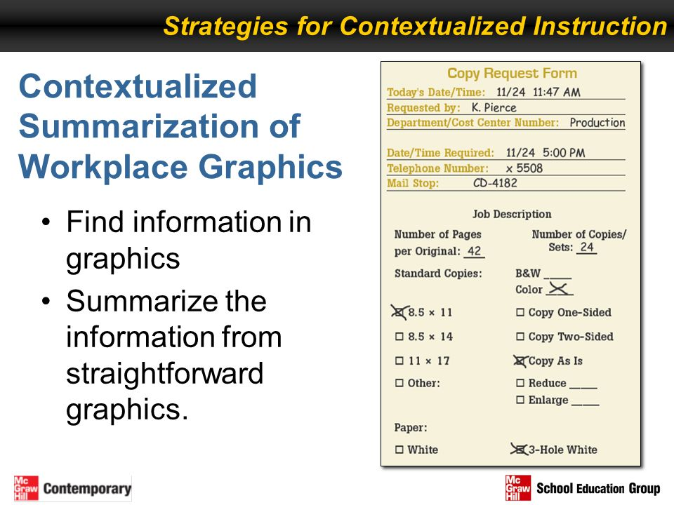 Contextualized Summarization of Workplace Graphics