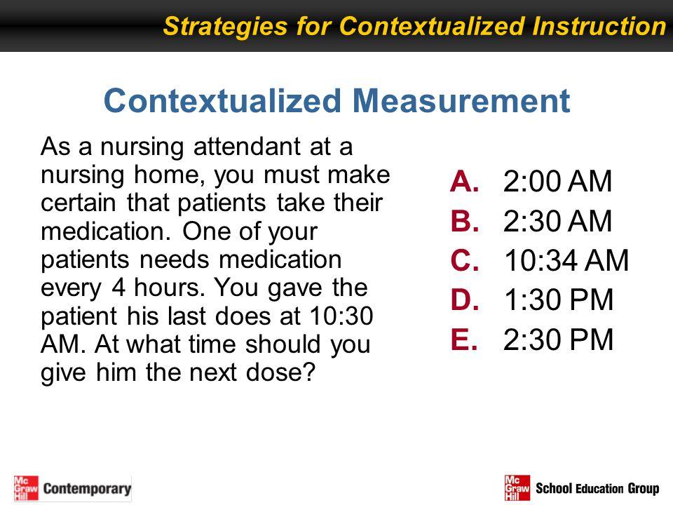 Contextualized Measurement