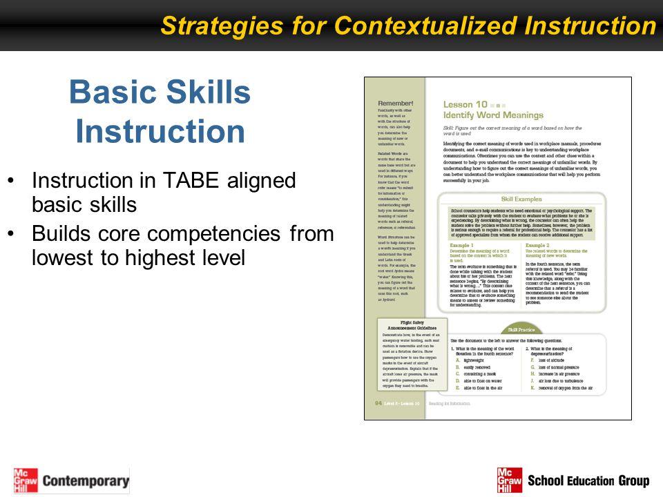 Basic Skills Instruction