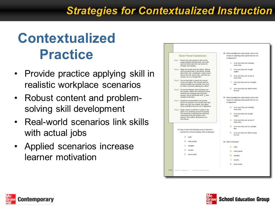 Contextualized Practice
