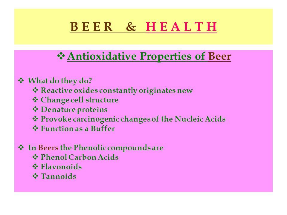 Antioxidative Properties of Beer