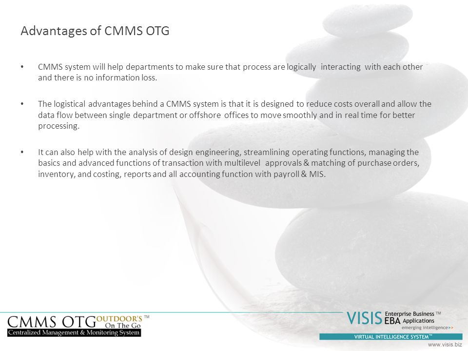 Advantages of CMMS OTG