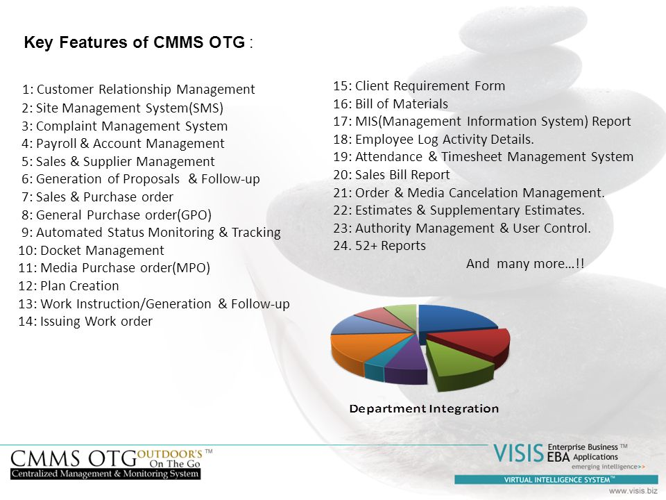 Key Features of CMMS OTG :