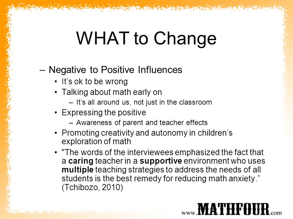 WHAT to Change Negative to Positive Influences It's ok to be wrong