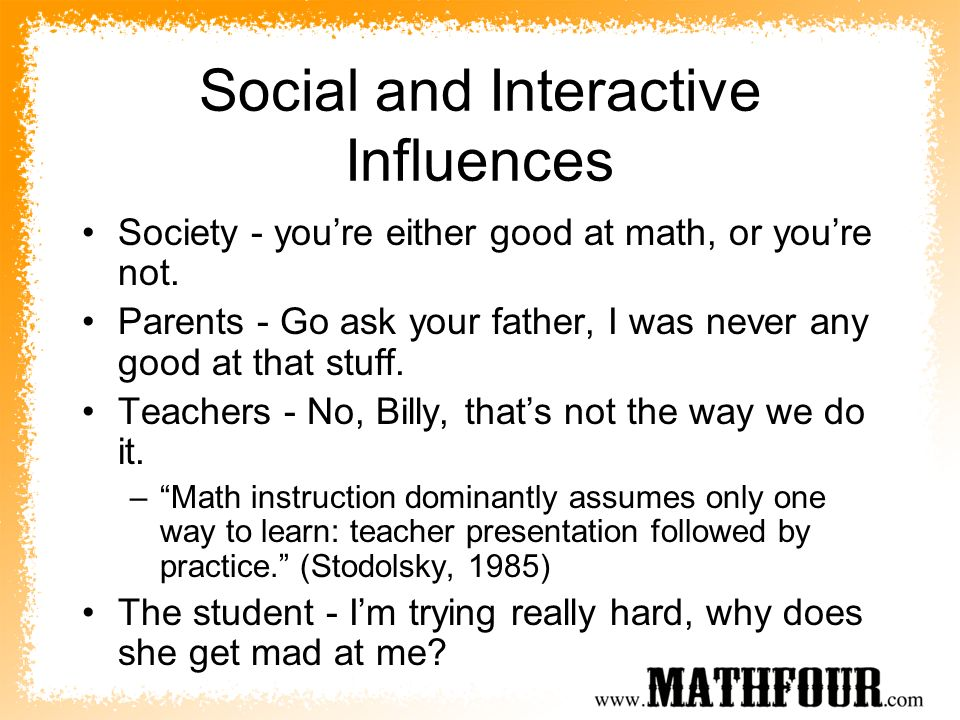 Social and Interactive Influences