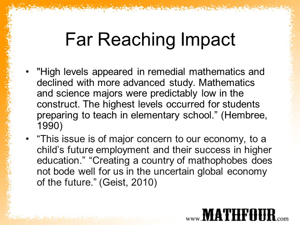 Far Reaching Impact