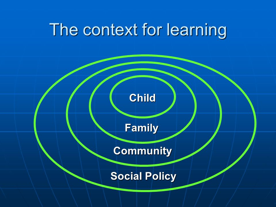 The context for learning
