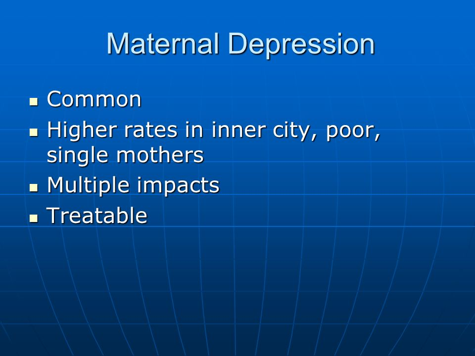 Maternal Depression Common