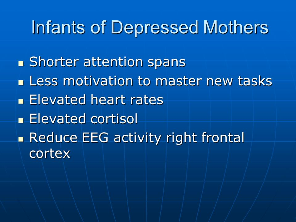 Infants of Depressed Mothers