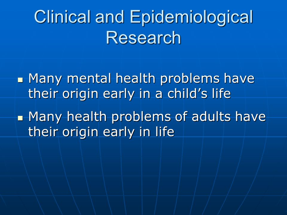 Clinical and Epidemiological Research