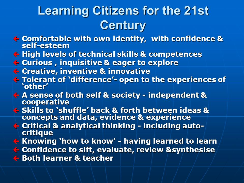 Learning Citizens for the 21st Century