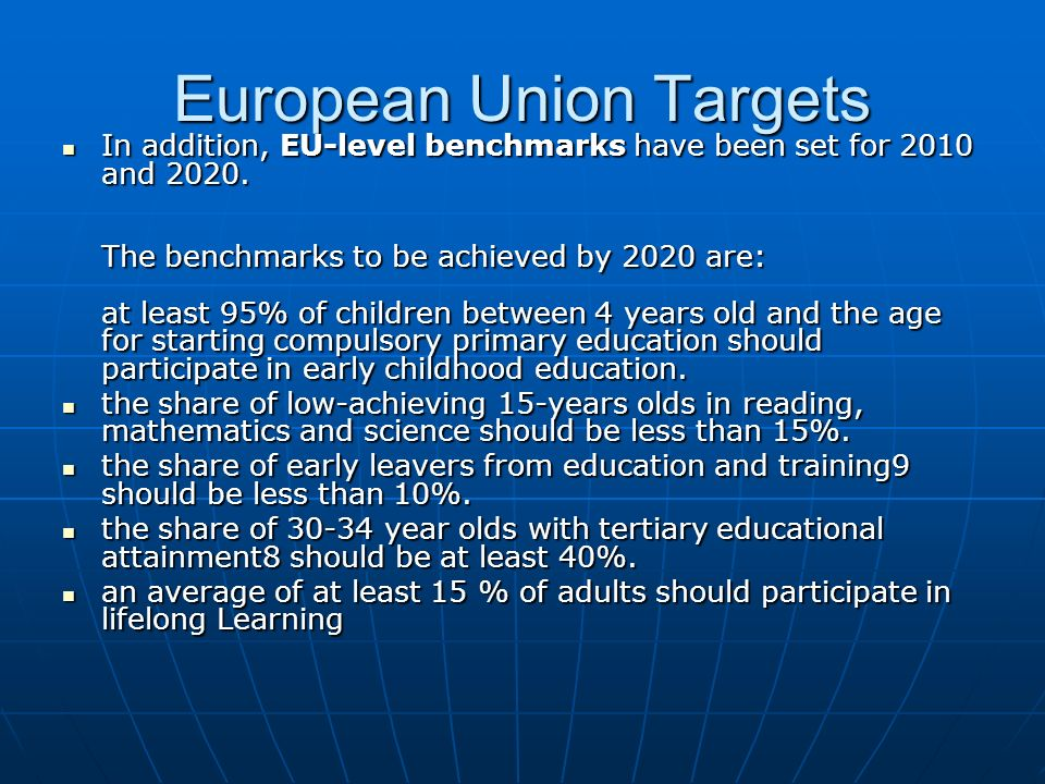 European Union Targets