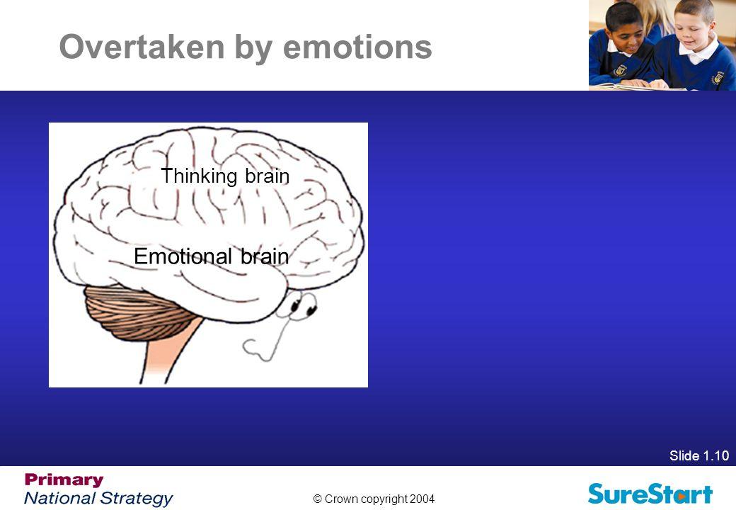 Overtaken by emotions Thinking brain Emotional brain Slide 1.10
