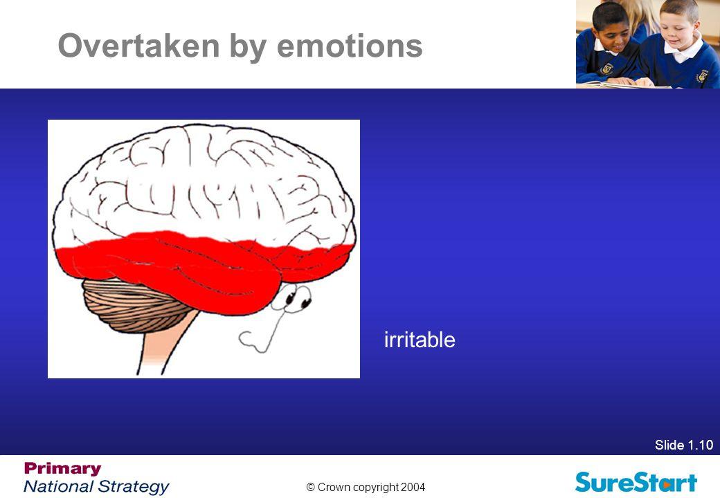 Overtaken by emotions irritable Slide 1.10
