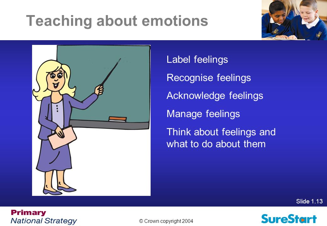 Teaching about emotions