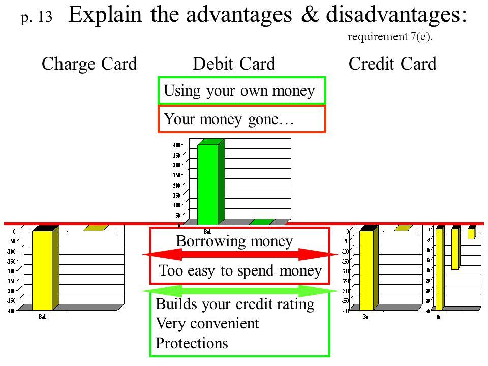 p. 13 Explain the advantages & disadvantages: requirement 7(c).
