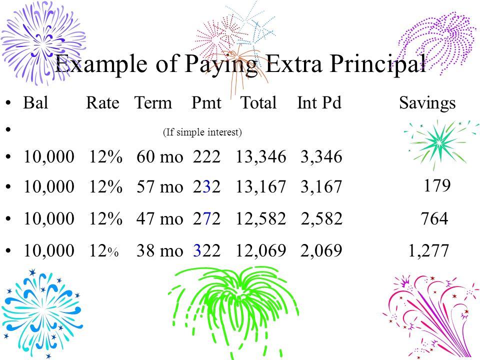 Example of Paying Extra Principal
