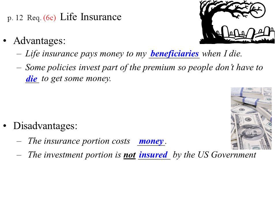 p. 12 Req. (6c) Life Insurance