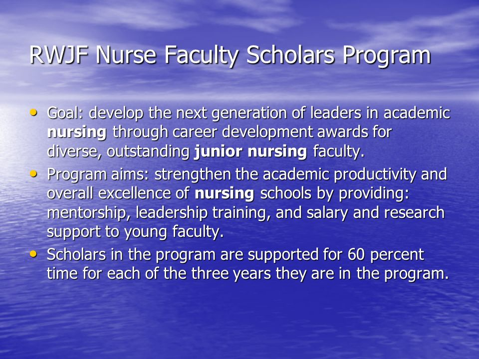 RWJF Nurse Faculty Scholars Program