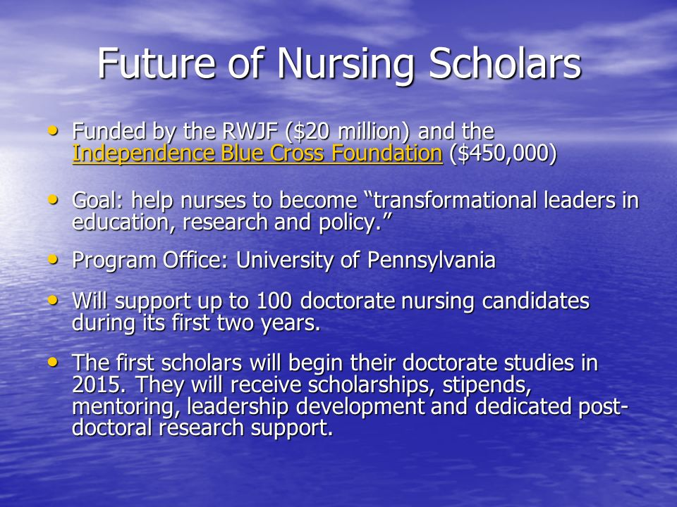 Future of Nursing Scholars