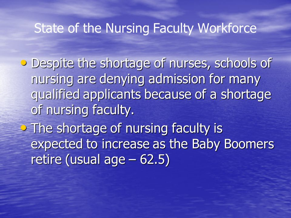 State of the Nursing Faculty Workforce