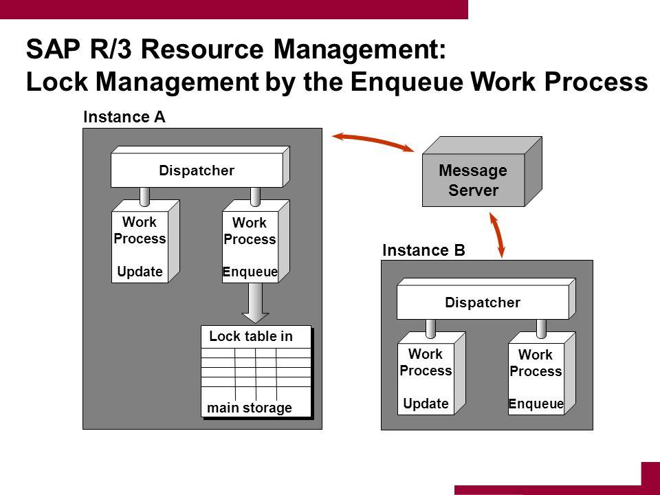 SAP R/3 Resource Management: Lock Management by the Enqueue Work Process