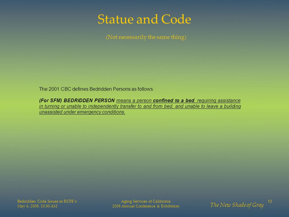 Statue and Code (Not necessarily the same thing)