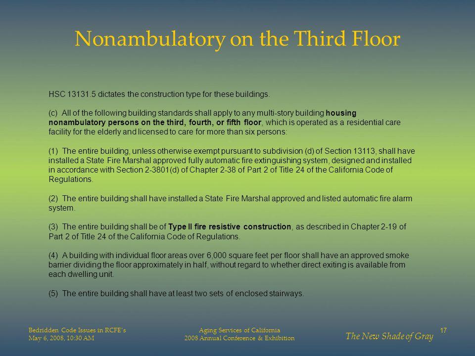 Nonambulatory on the Third Floor