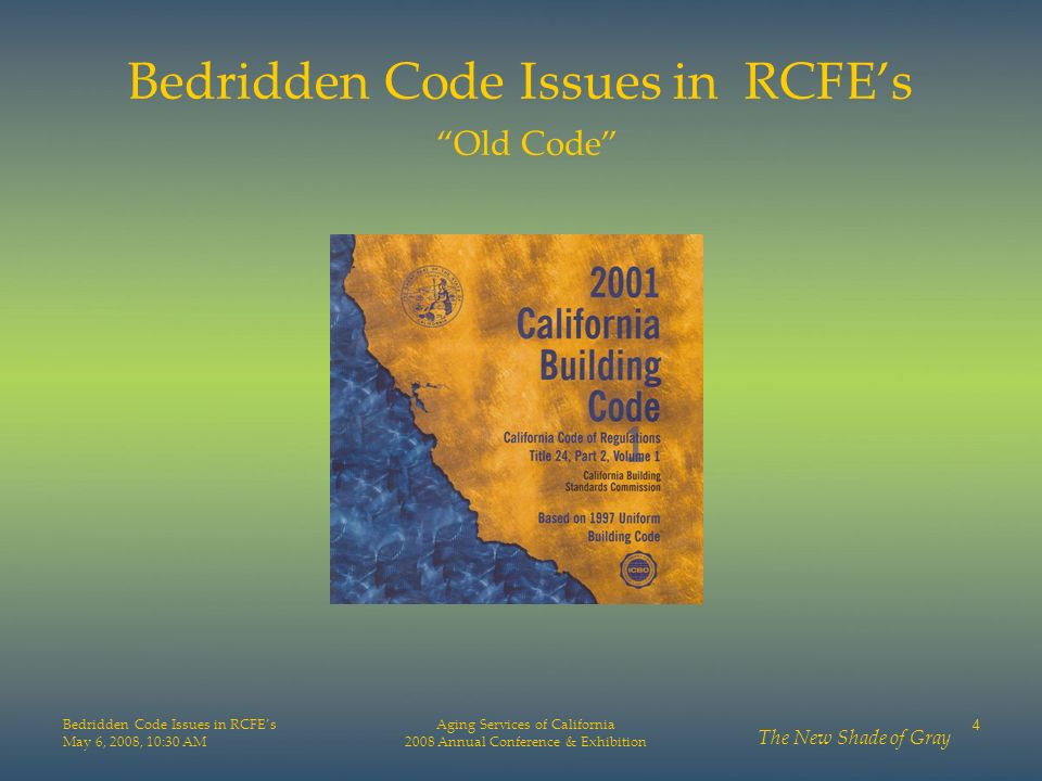 Bedridden Code Issues in RCFE's Old Code