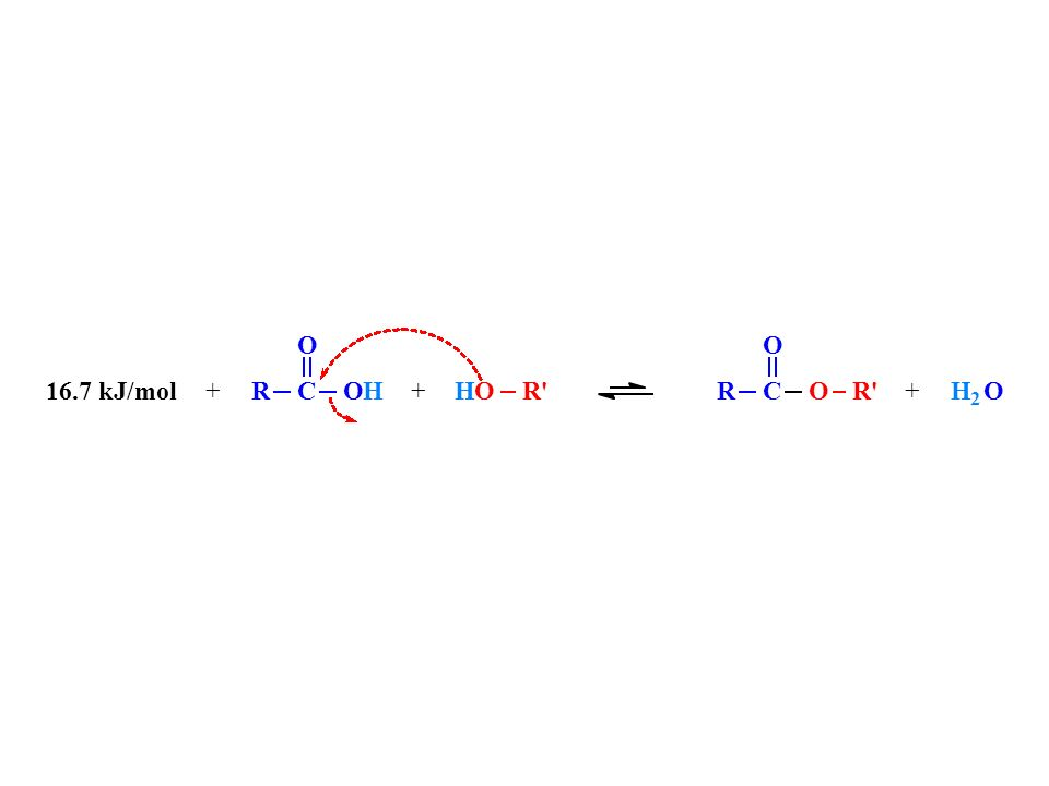 + R C O H R 16.7 kJ/mol 2