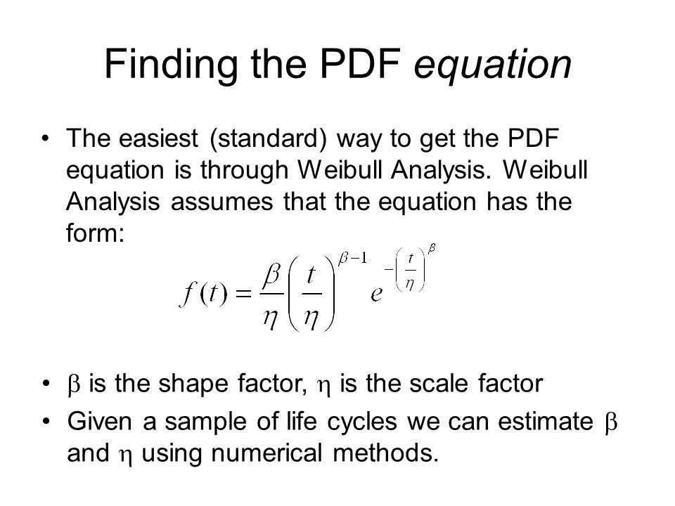 Finding the PDF equation
