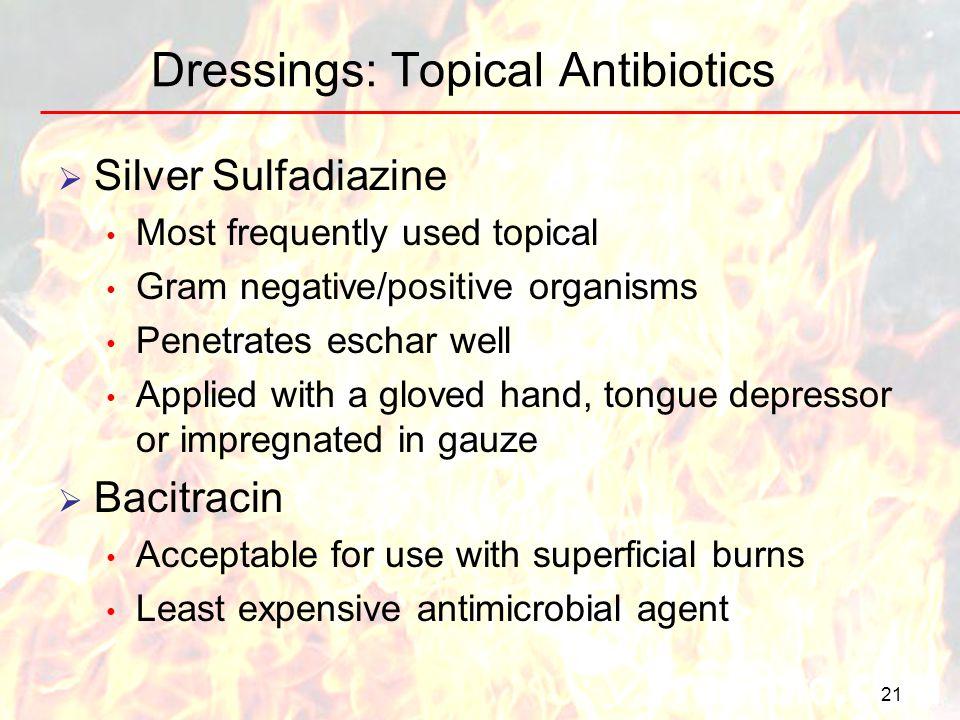 Dressings: Topical Antibiotics