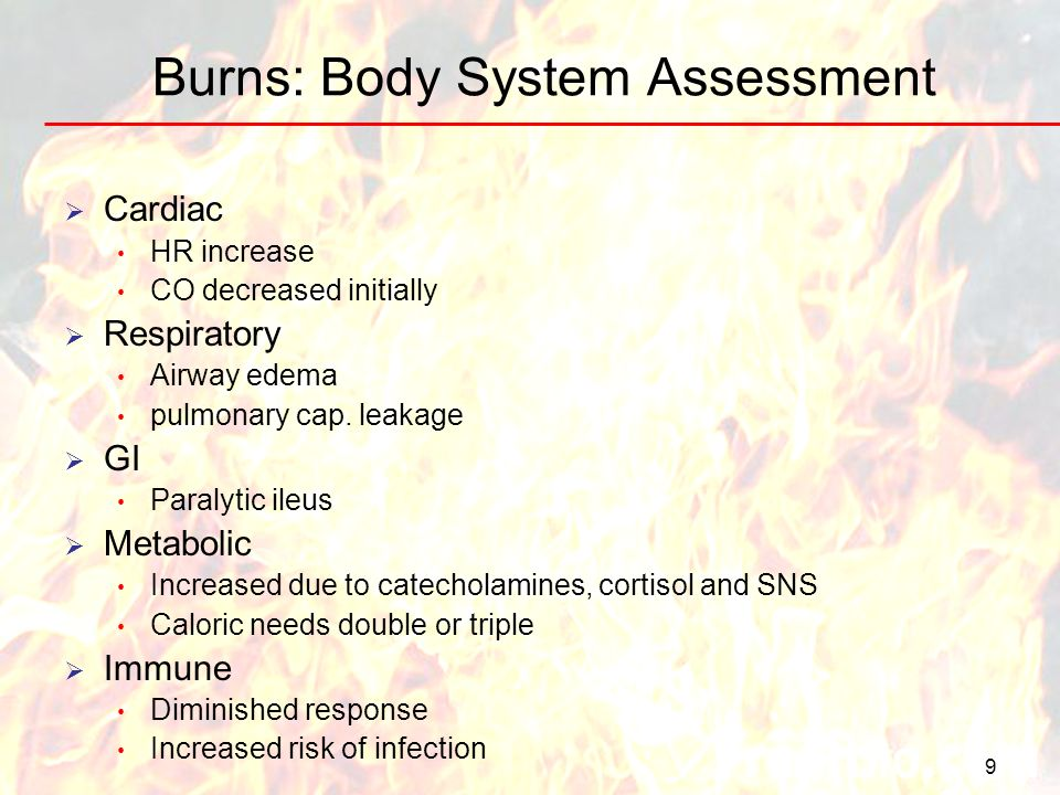 Burns: Body System Assessment