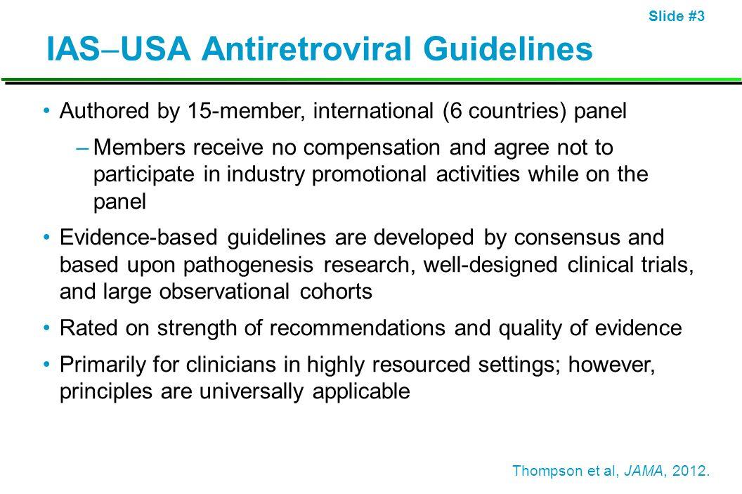 IASUSA Antiretroviral Guidelines
